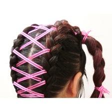 ラブリーリボン編みヘアセット
